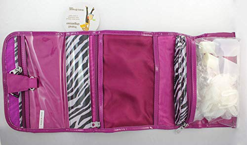 Conair TravelSmart Hanging Toiletry Bag, Zebra