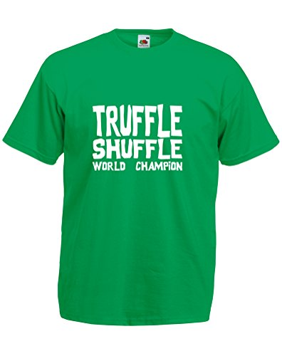 - Truffle Shuffle, Mens Printed T-Shirt - Kelly Green/White 2XL