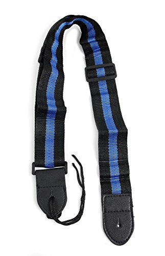 Black & Blue Stripe Guitar Controller Strap For Guitar Hero & Rock Band Guitars On PS3, PS2, Xbox 360 & Wii (Compatible With Guitar Hero: Warriors of Rock, 6, 5, 4, 3, 2 & 1) (Band Rock Strap Guitar)