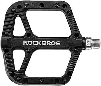 ROCKBROS Pedales de Bicicleta de Nylon Antideslizante Ligeros ...
