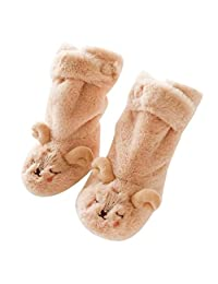 Amaping Cartoon Kids Toddler Baby Thick Plush Anti-slip Sock Boots Slipper Shoes
