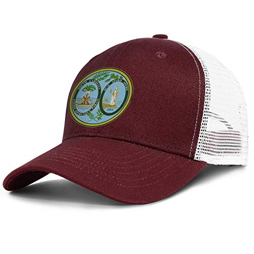 Adult Baseball Cap South Carolina Emblem Adjustable Sandwich Mesh Cap Hats
