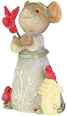 Enesco Tails Christmas Cardinal Figurine