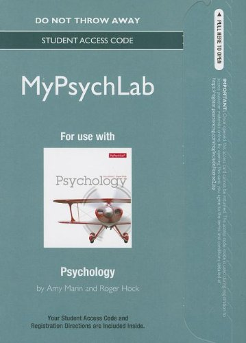 NEW MyPsychLab -- Standalone Access Card -- for Psychology (Mypsychlab (Access Codes))
