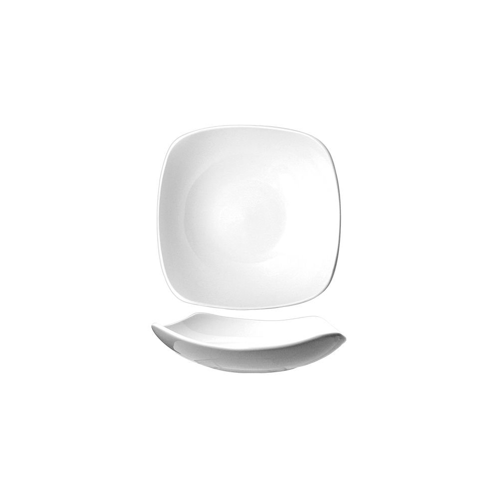 International Tableware QP-18 Porcelain Sq. 16 Oz Soup Bowl - 24 / CS by International Tableware, Inc. (Image #1)