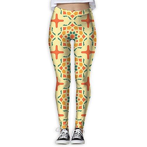 - Vintage Ethnic Pattern Women Full-Length Yoga Workout Pants Super Stretch Leggings Pants