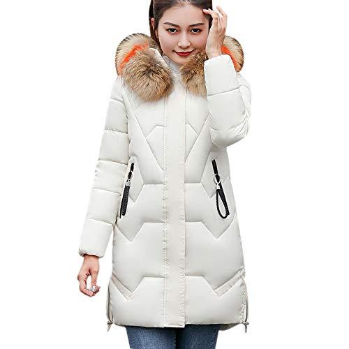Chaqueta para Mujer, ❤ Amlaiworld Moda Mujer de Invierno Chaqueta Larga Abrigo de algodón Caliente Slim Trench Parka 2018 Ropa Chaqueta Delgada Larga ...