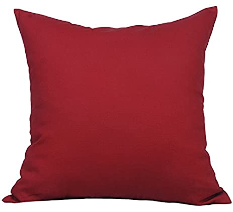 """Amazon TangDepot Cotton Solid Throw Pillow Covers 12"""" x 12"""