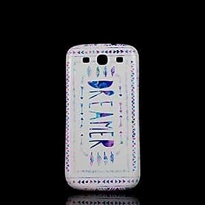 WQQ Teléfono Móvil Samsung - Cobertor Posterior - Gráfico/Diseño Especial - para Samsung S3 I9300 Plástico )