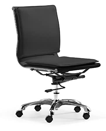 Amazoncom Zuo Modern Lider Plus Armless Office Chair Black