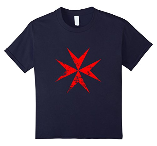 Make Knights Templar Costume (unisex-child Vintage Knights Templar Cross Medieval T Shirt & Clothing 12 Navy)