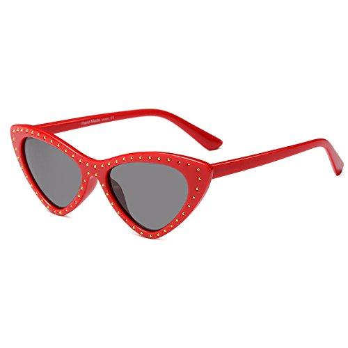 De Europa Sol Street Gafas A LIU Sol Estados Swag Gafas Ding Triangle Retro Unidos De Gafas Cat Inlay Eye B Vintage Y Sol De Butterfly CqdE4YE