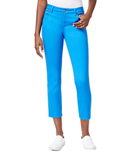KUT from the Kloth Women's Straight Ankle Jeans Victoria Blue 16 (Jeans Studded Leg Straight)