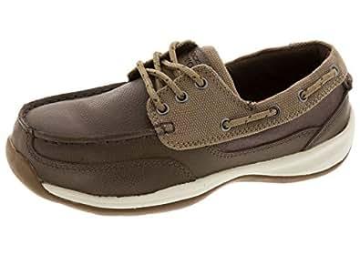 ROCKPORT Works Women's Sailing Club 3 Eye Tie Boat Shoe ST Brown Size: 6 US