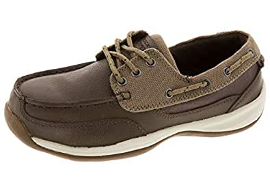 ROCKPORT Works Women's Sailing Club 3 Eye Tie Boat Shoe ST Brown Size: 6 US