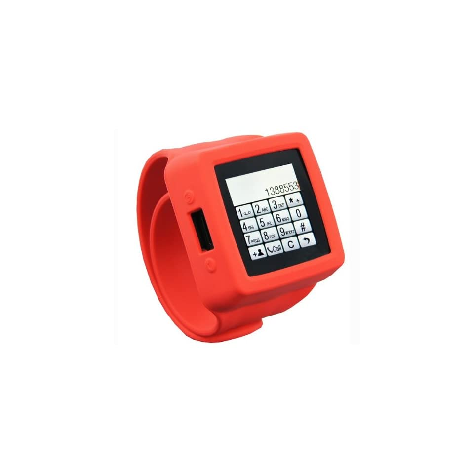 Watch Mq666a 1.5 TFT Touch Screen Watch Phone Snap on with Touch Screen with 3.2m Hd Camera for Iphone Bluetooth Fm Radio  Playback  red