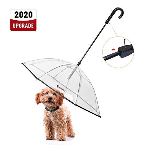 """LESYPET Pet Umbrella Dog Umbrella with Leash, Fits 20"""" Pet"""