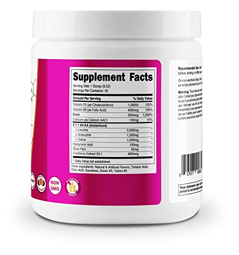 Nutricost BCAA for Women (Green Apple, 30 Servings ...