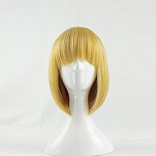 Howl's Moving Castle Howl Hau Ru Gold 35cm Short Cosplay Wig + Free Wig Cap (gold)