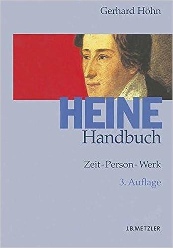 Heine Handbuch Zeit Person Werk Amazonde Gerhard Höhn Bã¼cher
