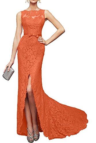 Trumpet Abendkleider La Brautmutterkleider Orange Marie Ballkleider Etuikleider Langes 2017 Spitze Braut 00qRwBa