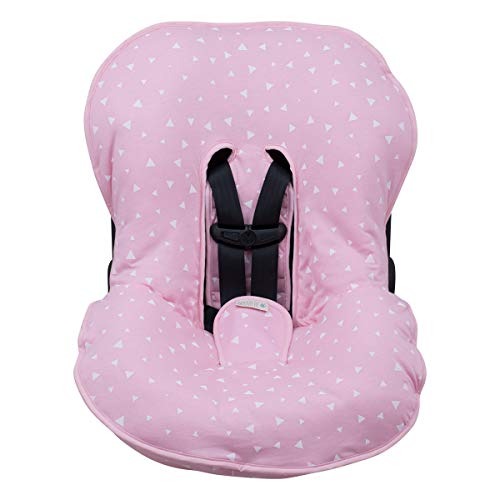 JANABEBÉ Universal Padded Cover Liner for Baby Carriers and CAR SEAT (Maxi COSI MICO, CHICCO, BRITAX, ETC) (Pink Sparkles)