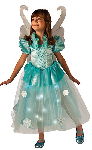 Rubie's Costume Kids Winter Fairy Lite up Costume, X-Small (Fairy Tale Costumes For Girls)