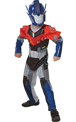 [Deluxe Optimus Prime Transformers Robots in Disguise - Kids Costume 3 - 4 years] (Deluxe Optimus Prime Kids Costumes)