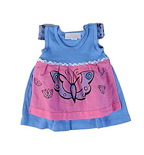Toni Tierney Periwinkle Butterfly Apron Dress (9 ()