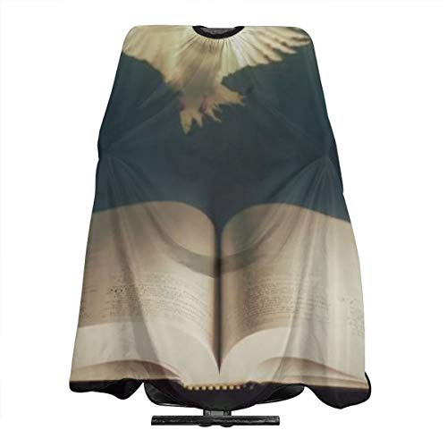 (VIVIAN RICE Professional Salon Hair Cut Cape,Apron with Adjustable Snap Closure,Hairdressers and Barbers Peace Dove,Easy Clean,Lightweight)