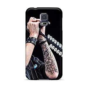 Bumper Hard Phone Case For Samsung Galaxy S5 (JwR17165PVze) Unique Design High Resolution Papa Roach Pattern