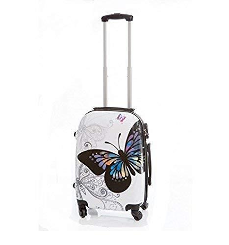 Maleta peque/ña Mariposas Blanca 55x40x23 cm
