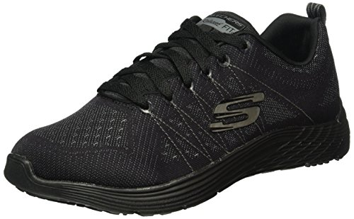 Skechers Black Sneakers Low Women 12135 Top TwqCvSRTx