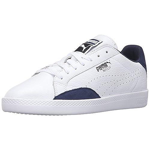 PUMA Women's Match Lo Basic Sports Wn's Tennis Shoe, White/Peacoat, 8 M US