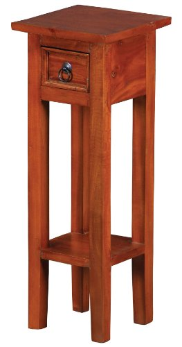 Sterling 6500525 Sutter Mahogany End Table with Drawer, 27-Inch, Espresso (Mahogany Square Side Table)