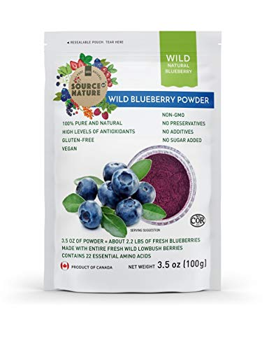 Wild Blueberry Powder (100g) 100% Whole Berry; Not Extract, Not Concentrate, Not Juice Powder