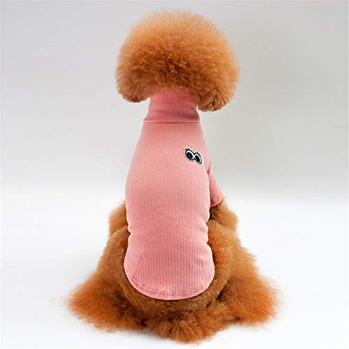 Jdogayncat Pet Clothing, Spring and Summer Cotton Casual Solid Color T-Shirt, Small and Medium Dog Teddy Bear Dog -