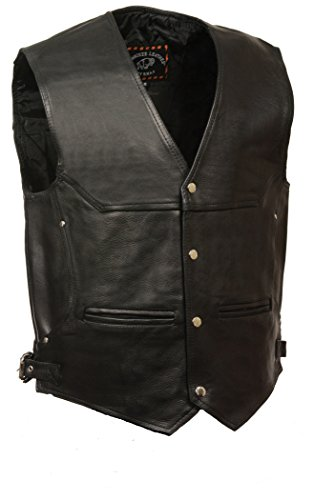 Naked Cowhide Leather Vest - 9