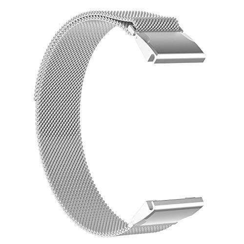 TenCloud Fenix 5S,5S Plus Band 20mm Quick Release,Replacement Solid Stainless Steel Metal Strap for Garmin Fenix 5S&5S Plus Sapphire Smartwatch [NOT for Fenix 5&Fenix 5X] (Silver)