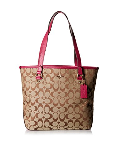 Cranberry Fabric Handbags - 6
