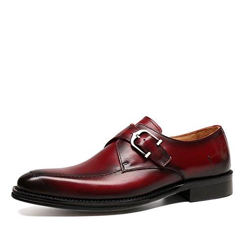 De Se Red Visten Primavera Los Concha Inglaterra Peregrino La Zapatos Boda Cuadrada Hombres 6w85R48q