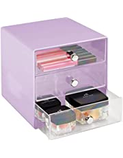 mDesign - Make-up organizer - ladekastje/cosmetica-organizer met 3 gescheiden lades - ideaal voor het opbergen in slaapkamer en badkamer