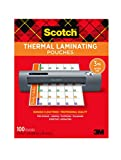 Scotch Thermal Laminating Pouches, 100-Pack