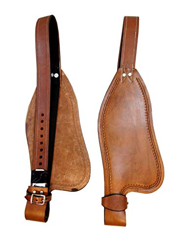 Replacement Horse Western Saddle Smooth Leather Fender Stirrup Hobble Strap Trail Pleasure TACK