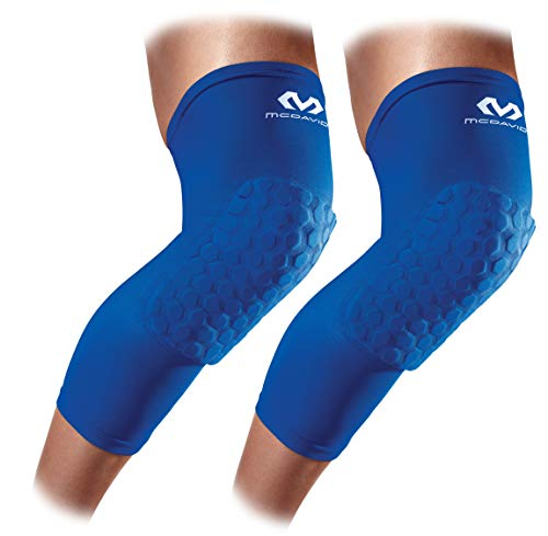 (Knee Compression Sleeves: McDavid Hex Knee Pads Compression Leg Sleeve for Basketball, Volleyball, Weightlifting, and More - Pair of Sleeves)