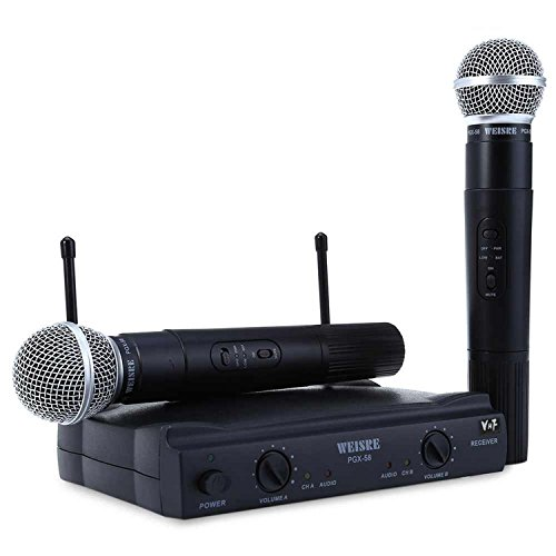 Transmitter Holster (Chliste PGX58 VHF Dual Wireless Handheld Microphone with Receiver Black)