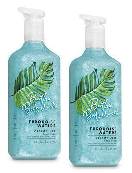 Bath and Body Works 2 Pack Turquoise Waters Creamy Luxe Hand Soap. 8 Oz.