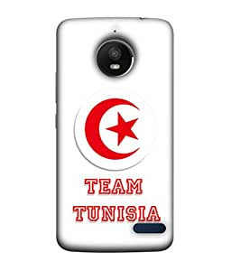 ColorKing Football Tunisia 03 White shell case cover for Motorola Moto E4