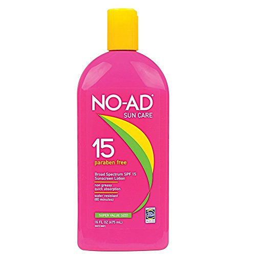 NO-AD Sunscreen Lotion, SPF 15 16 oz Pack of 12