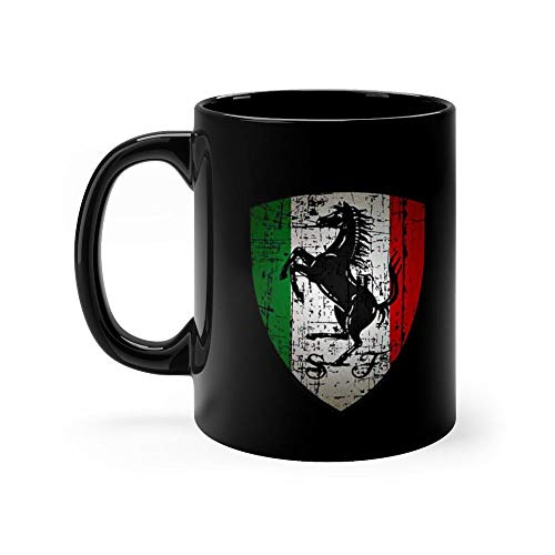 - FERRARI 11oz Black Ceramic Horse Lover Tea Coffee Mug Funny and Inspirational Gifts for Equestrian Owner Men Women